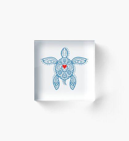 Sea Turtle Hope - Tribal Acrylic Block