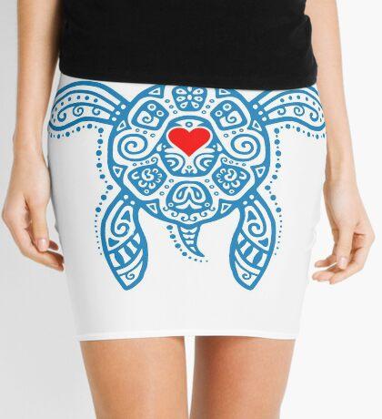 Sea Turtle Hope - Tribal Mini Skirt