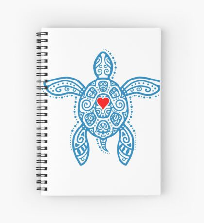 Sea Turtle Hope - Tribal Spiral Notebook