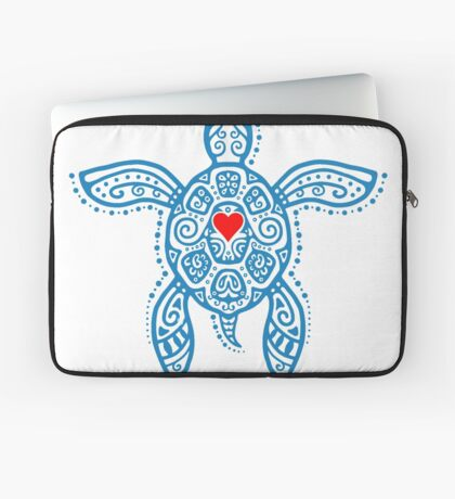 Sea Turtle Hope - Tribal Laptop Sleeve