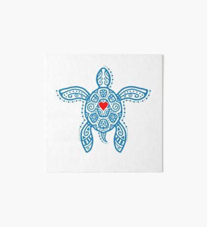 Sea Turtle Hope - Tribal Art Board Print