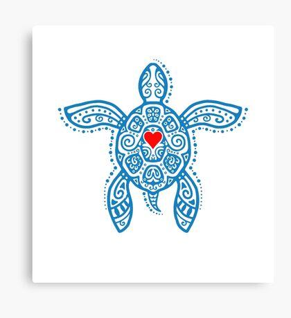 Sea Turtle Hope - Tribal Canvas Print