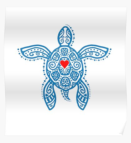 Sea Turtle Hope - Tribal Poster