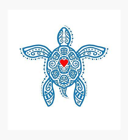 Sea Turtle Hope - Tribal Photographic Print