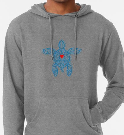 Sea Turtle Hope - Tribal Lightweight Hoodie