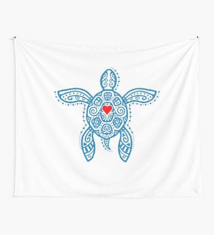 Sea Turtle Hope - Tribal Wall Tapestry