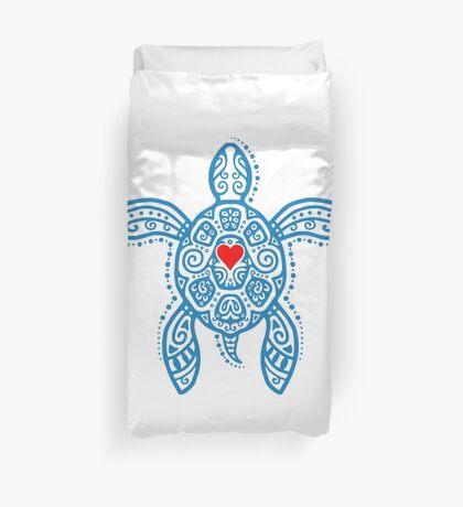 Sea Turtle Hope - Tribal Duvet Cover