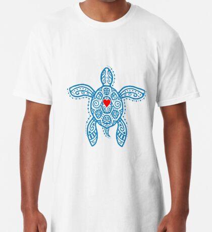 Sea Turtle Hope - Tribal Long T-Shirt