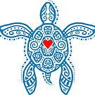 Sea Turtle Hope - Tribal by mavisshelton