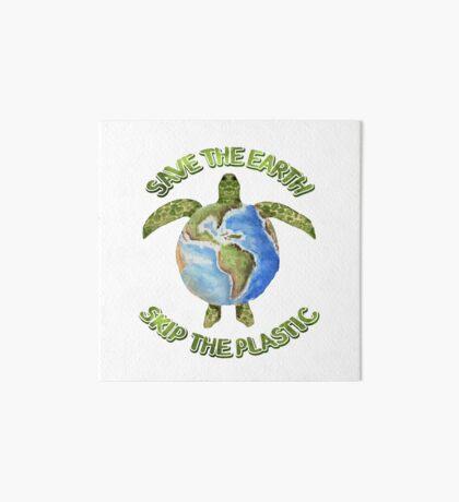 Save the Earth Skip the Plastic Art Board Print