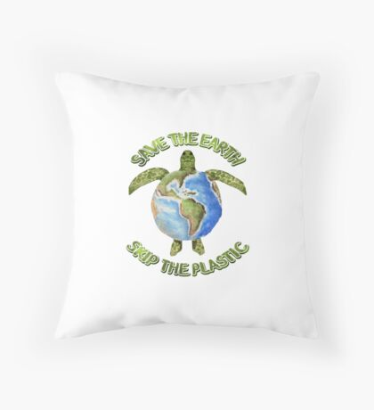 Save the Earth Skip the Plastic Floor Pillow