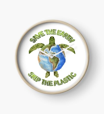 Save the Earth Skip the Plastic Clock
