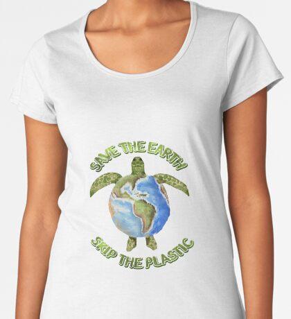Save the Earth Skip the Plastic Premium Scoop T-Shirt