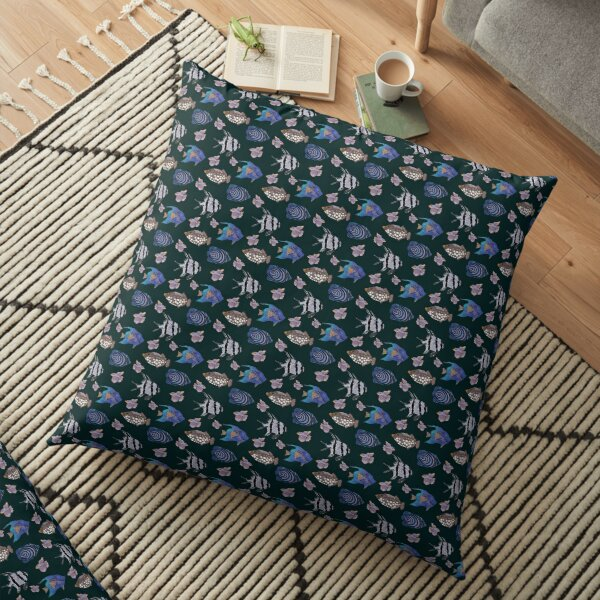 Exotic fish pattern Floor Pillow
