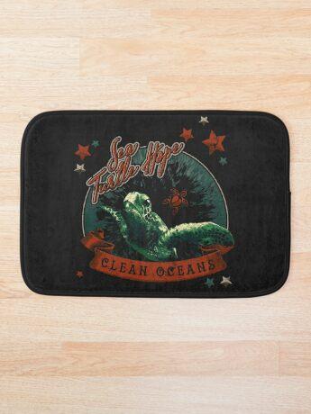 Sea Turtle Hope - Vintage Pop Bath Mat