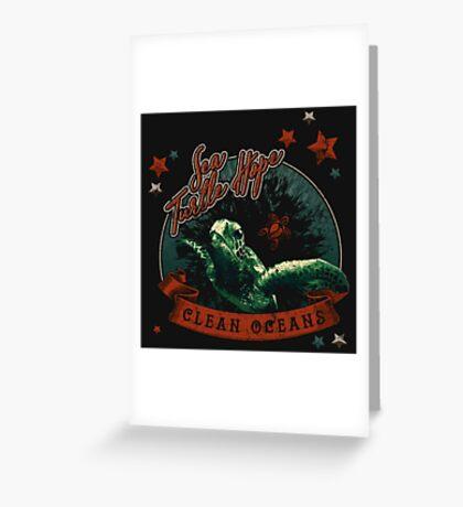 Sea Turtle Hope - Vintage Pop Greeting Card