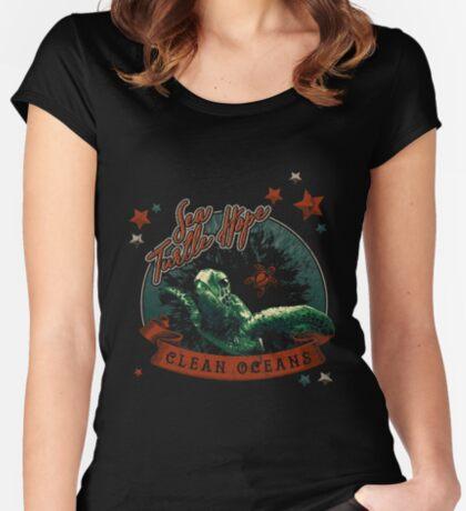 Sea Turtle Hope - Vintage Pop Fitted Scoop T-Shirt