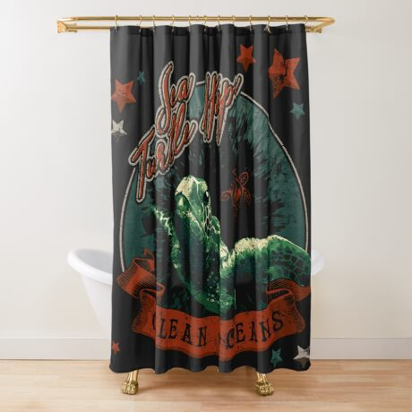 Sea Turtle Hope - Vintage Pop Shower Curtain