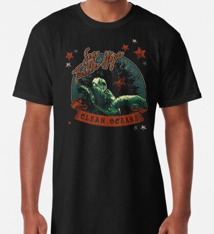 Sea Turtle Hope - Vintage Pop Long T-Shirt