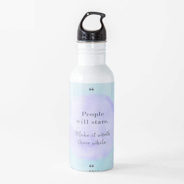 Motivation Confidence Quote Water Bottle