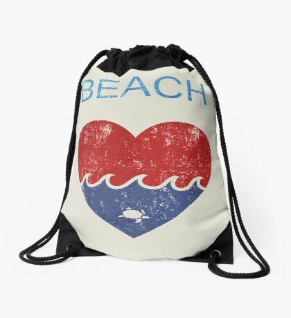 Beach LOVE  Drawstring Bag