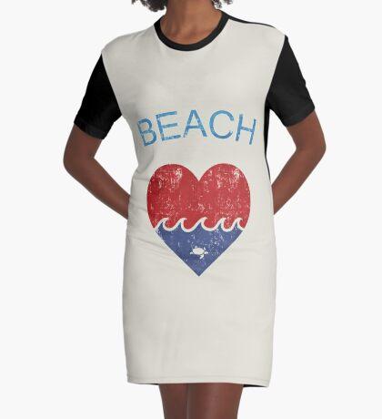 Beach LOVE  Graphic T-Shirt Dress