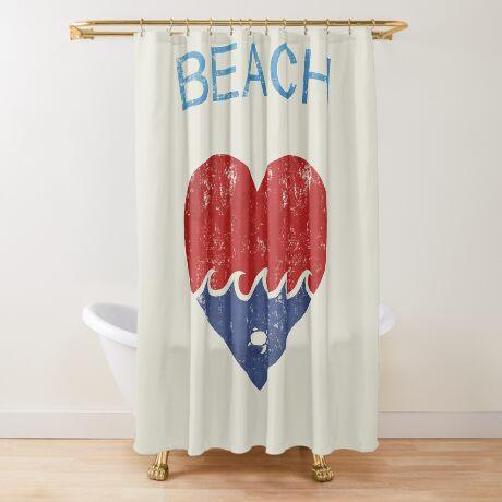 Beach LOVE  Shower Curtain