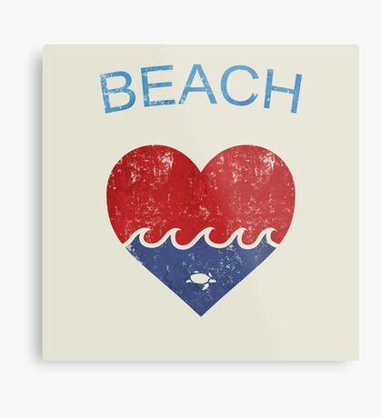 Beach LOVE  Metal Print