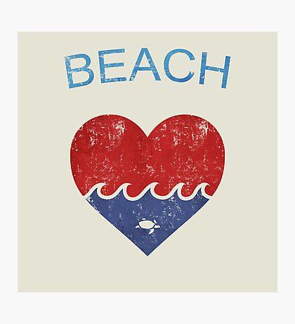 Beach LOVE  Photographic Print