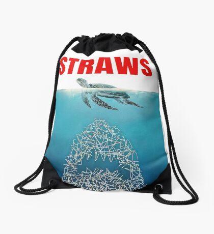 Straws - Vintage Drawstring Bag