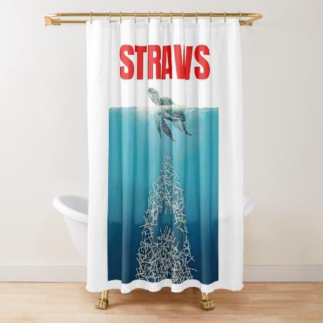 Straws - Vintage Shower Curtain