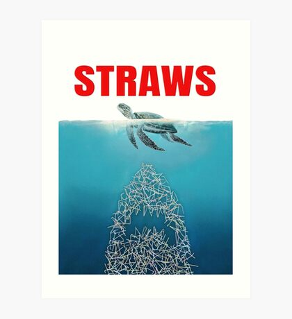 Straws - Vintage Art Print