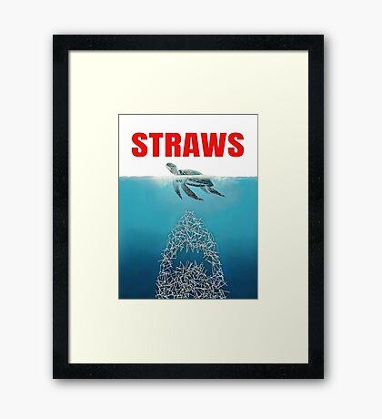 Straws - Vintage Framed Print