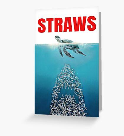 Straws - Vintage Greeting Card