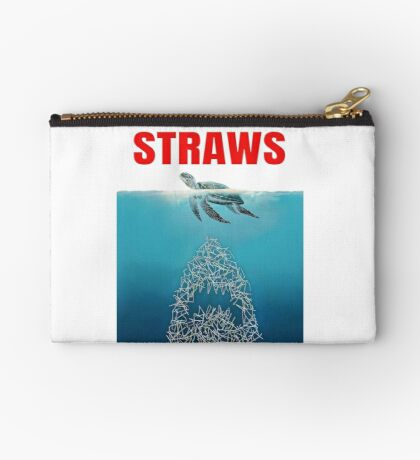 Straws - Vintage Zipper Pouch