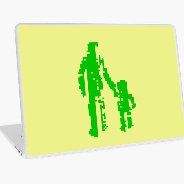 1 bit pixel pedestrians (green) Laptop Skin