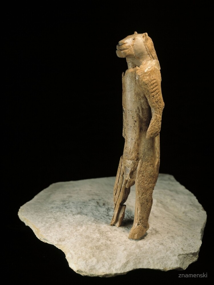 The lion-man sculpture from Germany (dated to 37,000 years ago)  by znamenski