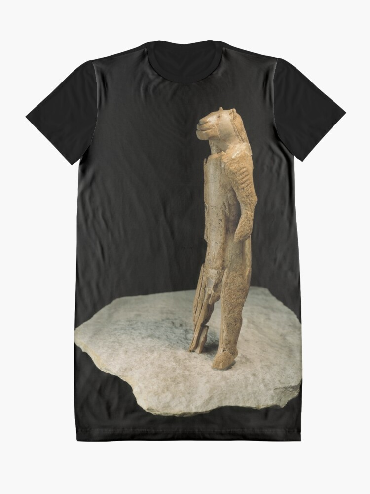 Alternate view of The lion-man sculpture from Germany (dated to 37,000 years ago)  Graphic T-Shirt Dress