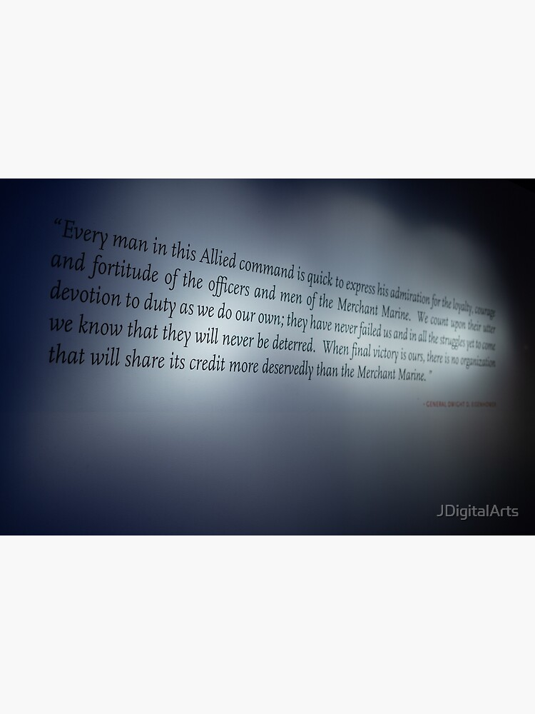 Dwight D. Eisenhower WWII Quote by JDigitalArts