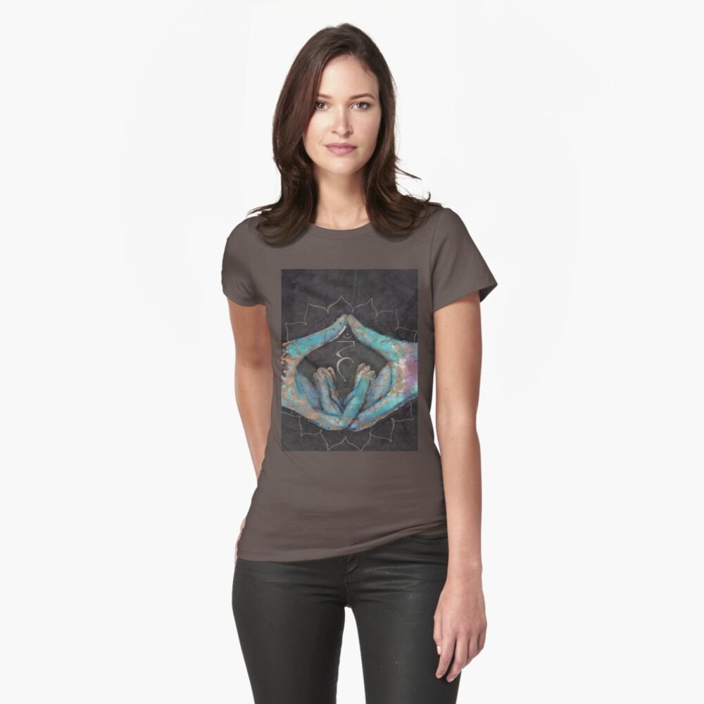 Vishuddha - throat chakra mudra  Womens T-Shirt Front
