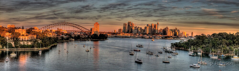 Berry's Bay Dawn - Berry's Bay Sydney Sydney Harbour - The HDR Experience by Philip Johnson