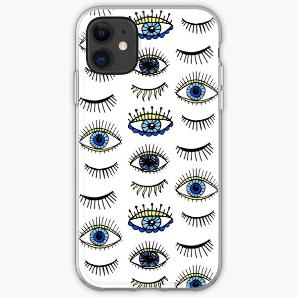 Evil Eyes Blue Yellow Lucky Charm Symbol iPhone Soft Case