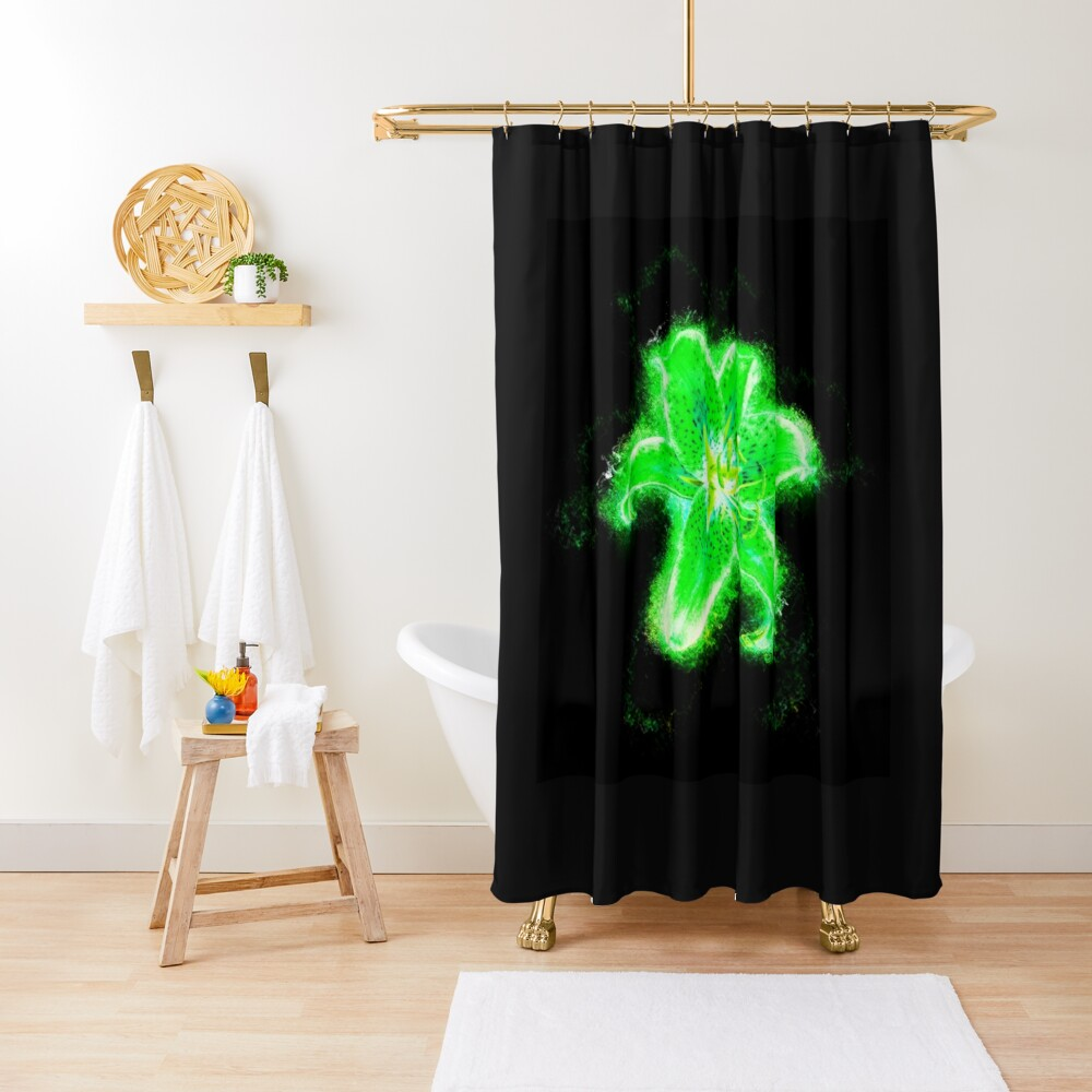 Blast Of Ash Green Shower Curtain