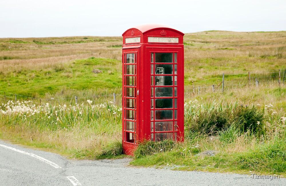 The Ubiquitous British Phone Box by Tizimagen
