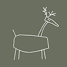 Poro the Reindeer (outline white) by Pekka Nikrus