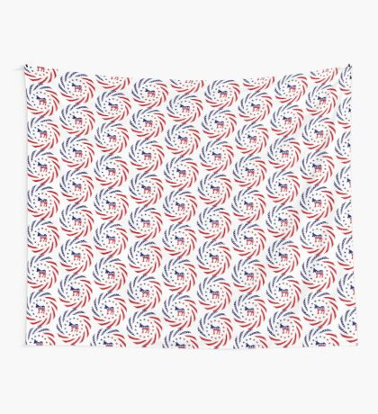 Democratic Murican Patriot Flag Series Wall Tapestry