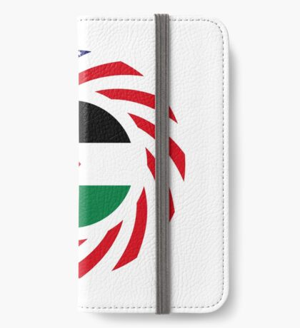 Palestinian American Multinational Patriot Flag Series iPhone Wallet