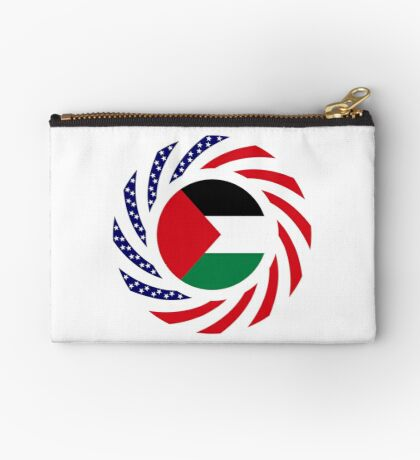 Palestinian American Multinational Patriot Flag Series Zipper Pouch