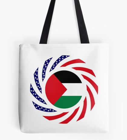 Palestinian American Multinational Patriot Flag Series Tote Bag