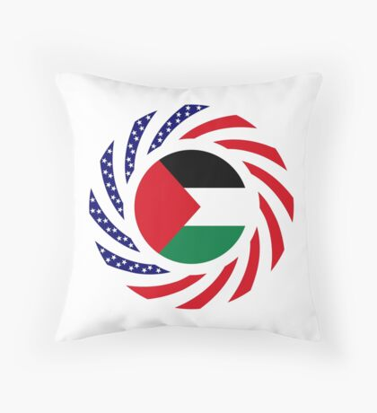 Palestinian American Multinational Patriot Flag Series Throw Pillow